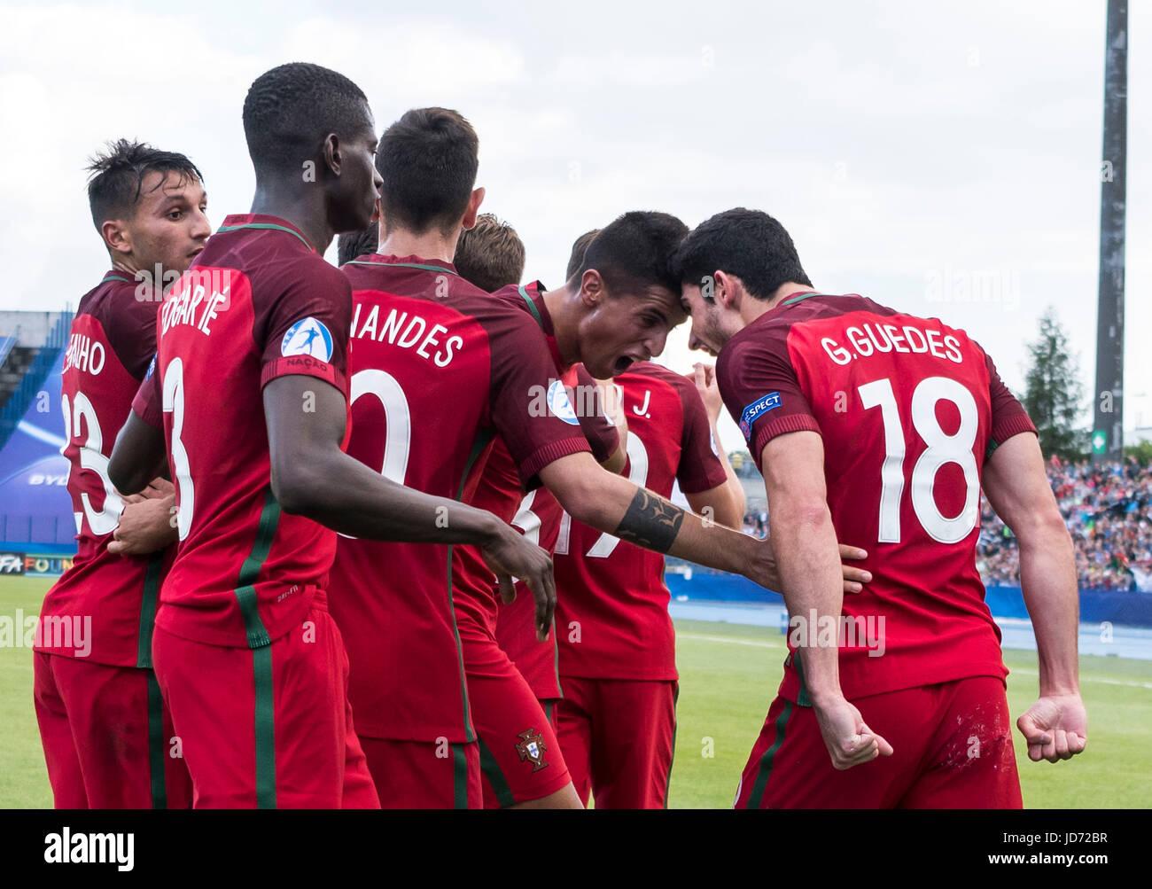Bydgoszcz Pologne 17 Juin 2017 Groupe De L Equipe Du Portugal