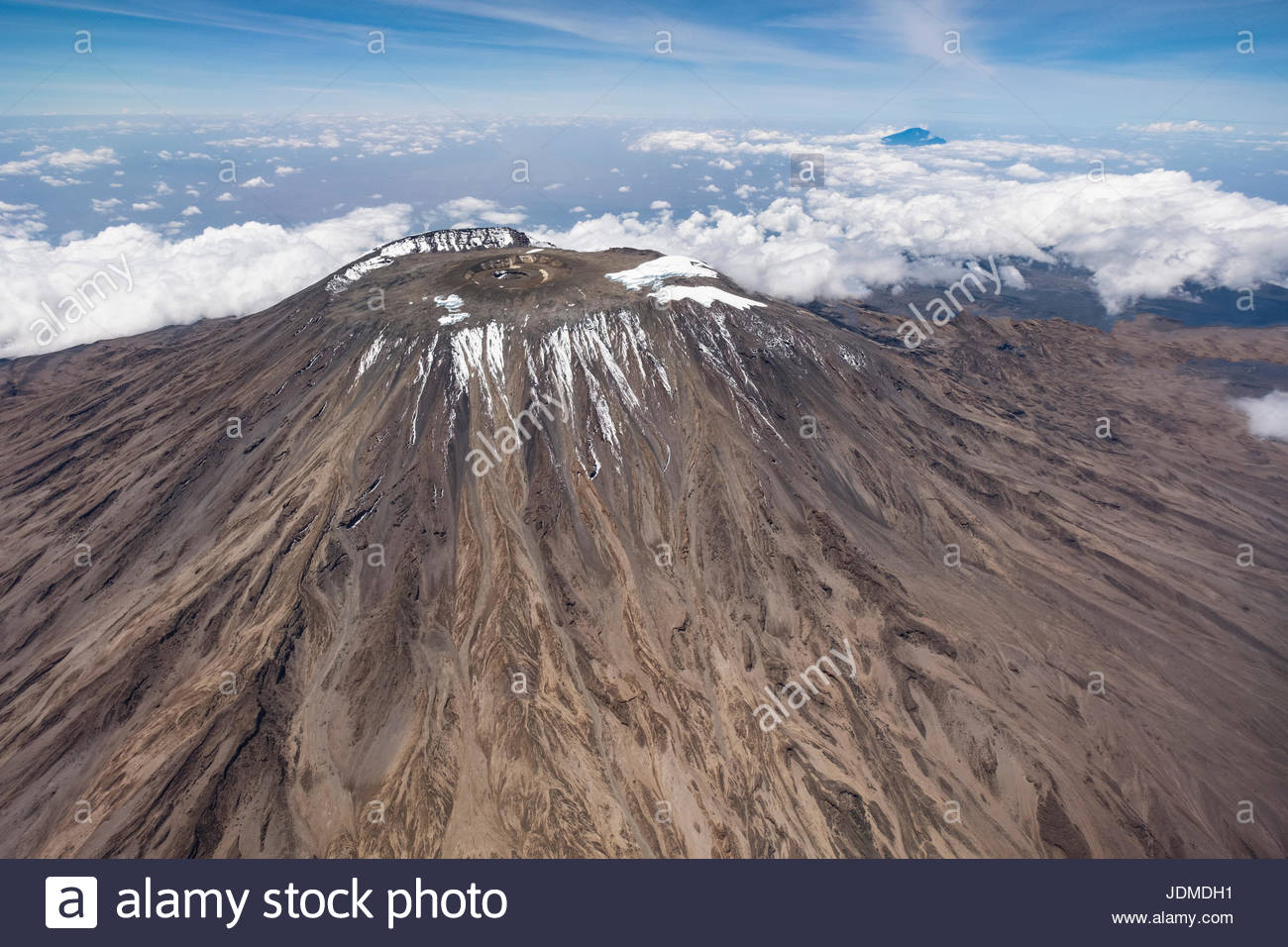 Le sommet du mont Kilimandjaro. Photo Stock