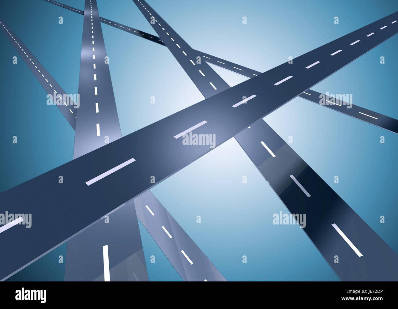 Autoroutes, Photo Stock