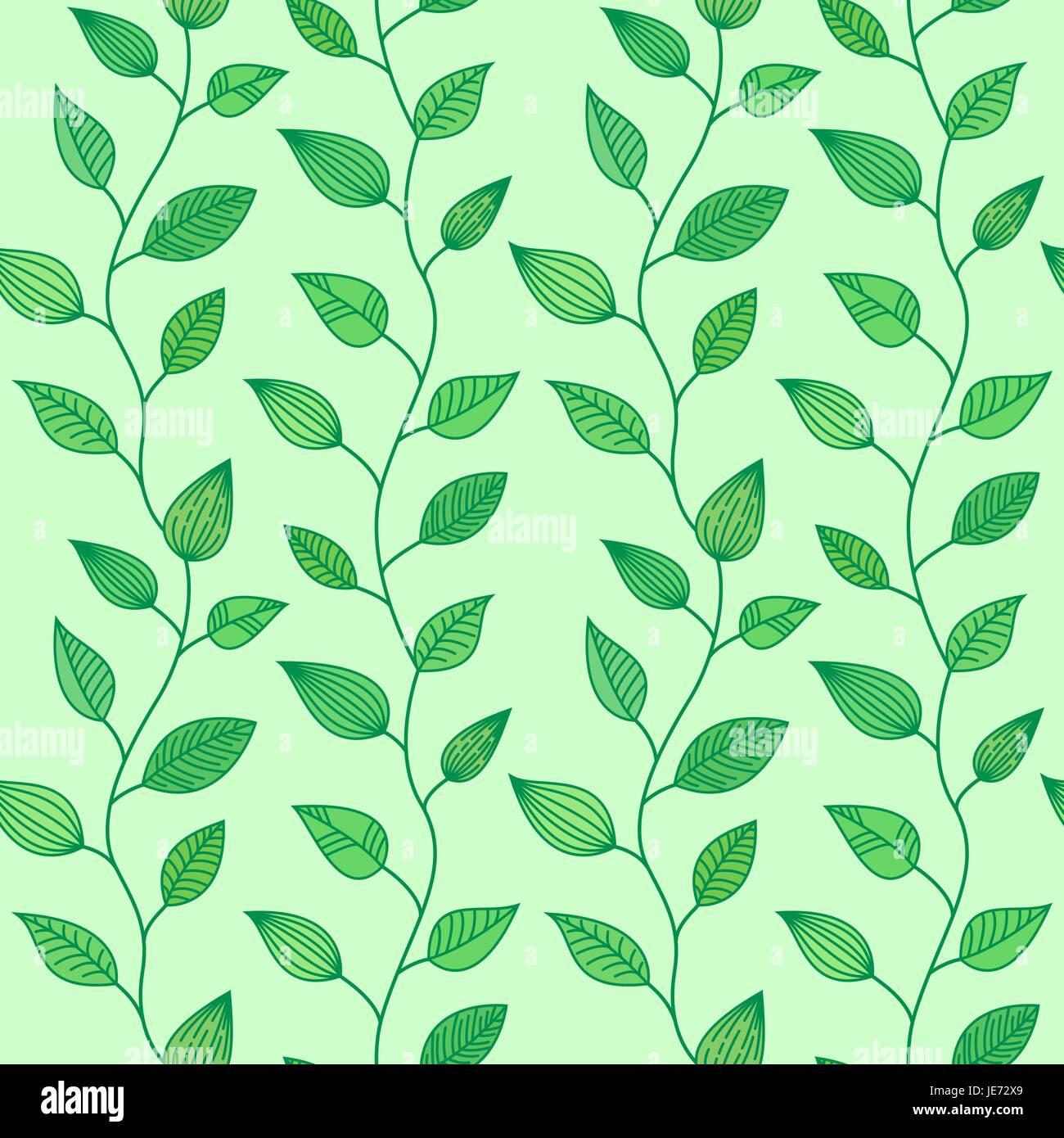Modèle transparent avec des feuilles décoratives, été et printemps background Illustration de Vecteur