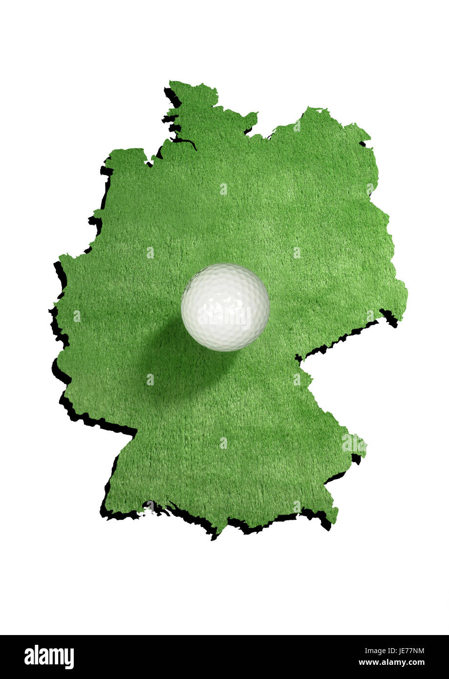 Contour, Allemagne, balle de golf, Photo Stock