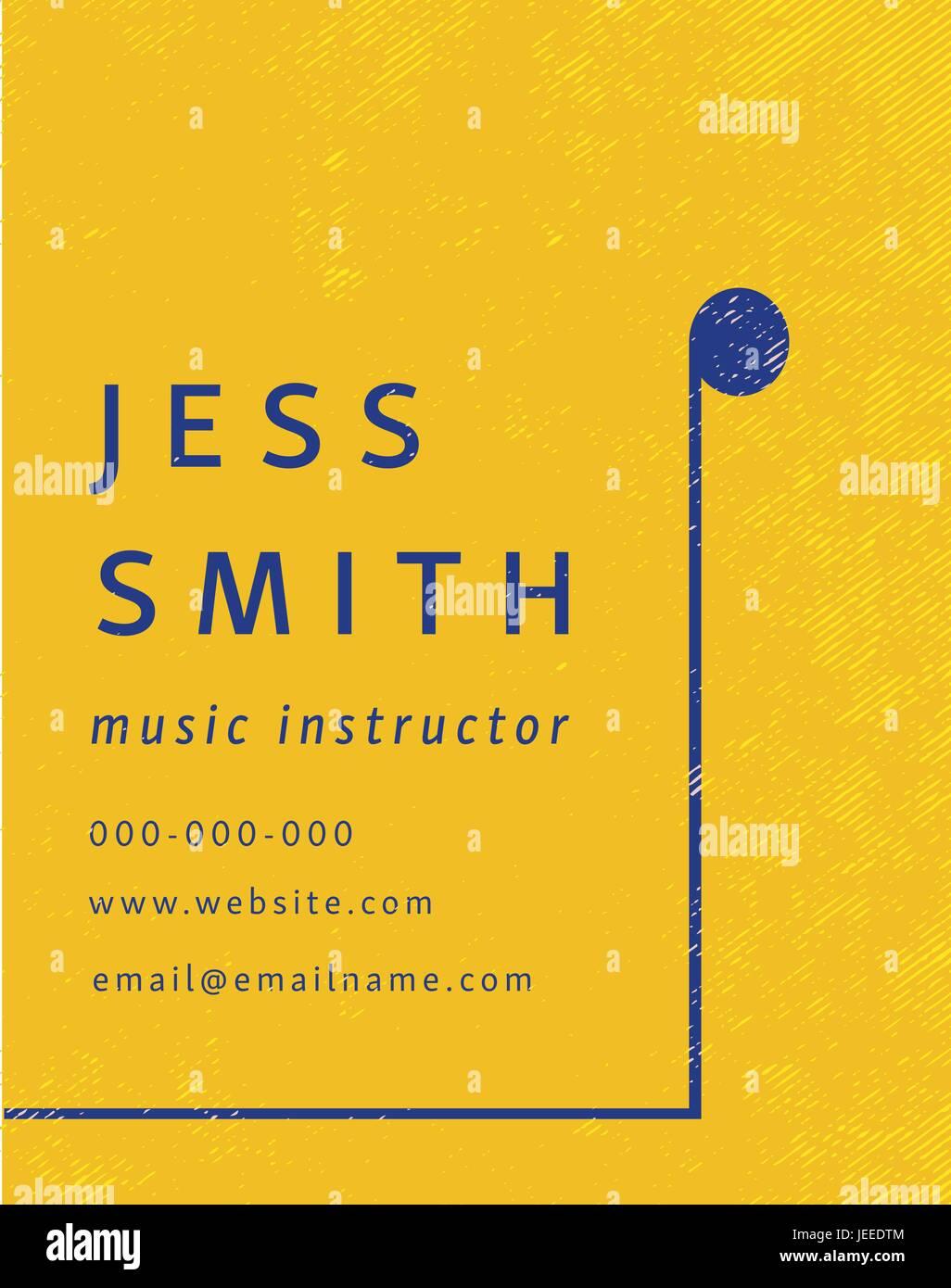 Carte De Visite Dinstructeur Musique Jess Smith