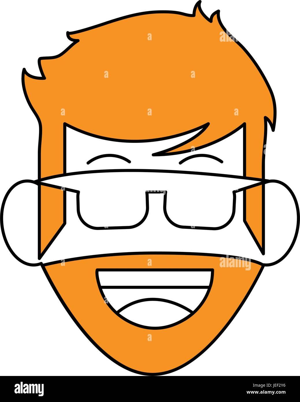 La conception de l'homme barbu Illustration de Vecteur