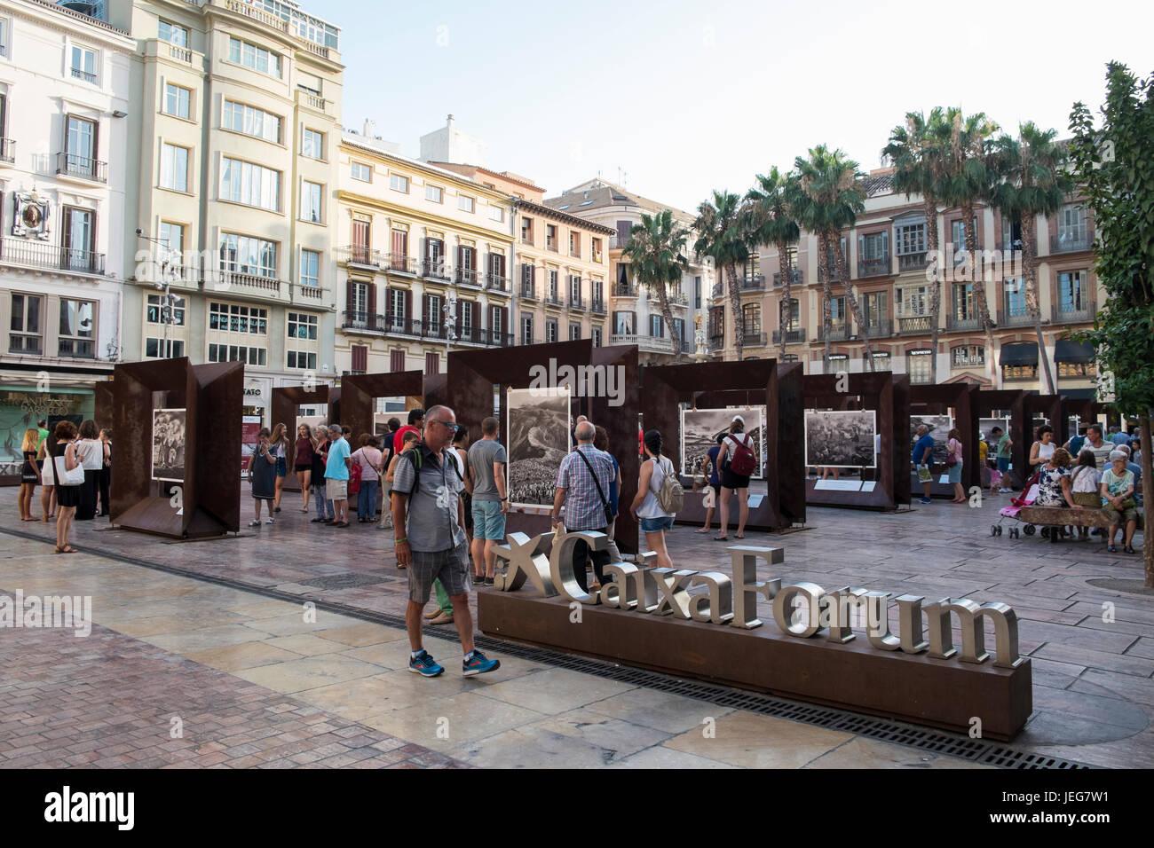 Exposition 'Genèse' du photographe brésilien Sebastião Salgado. Plaza de la Constitución, Photo Stock