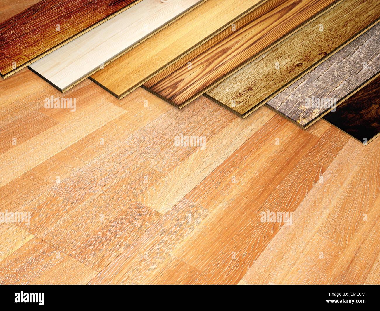 de nouvelles planches de parquet en chêne de différentes couleurs