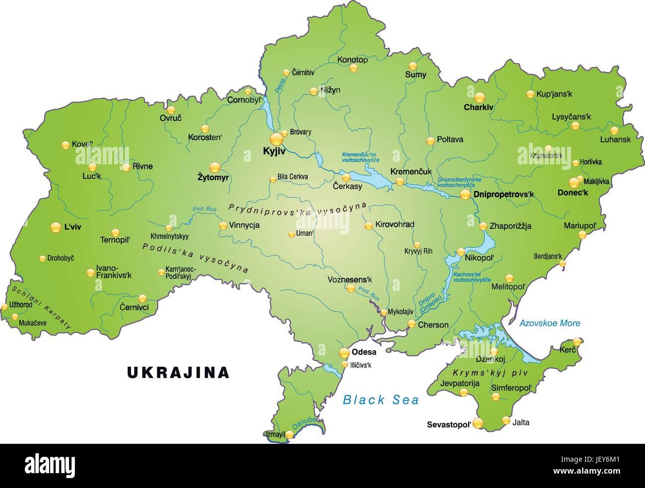 Ukraine Carte Du Monde.Carte Contours L Ukraine Frontieres Atlas Carte Du
