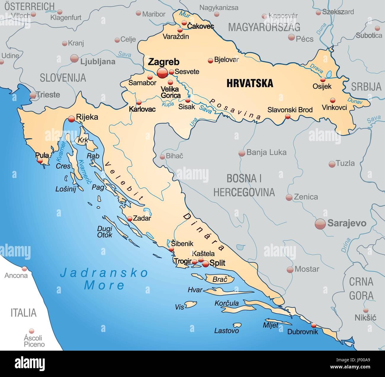Carte Croatie Dans Le Monde.Border Carte Croatie Synopsis Frontieres Atlas Carte