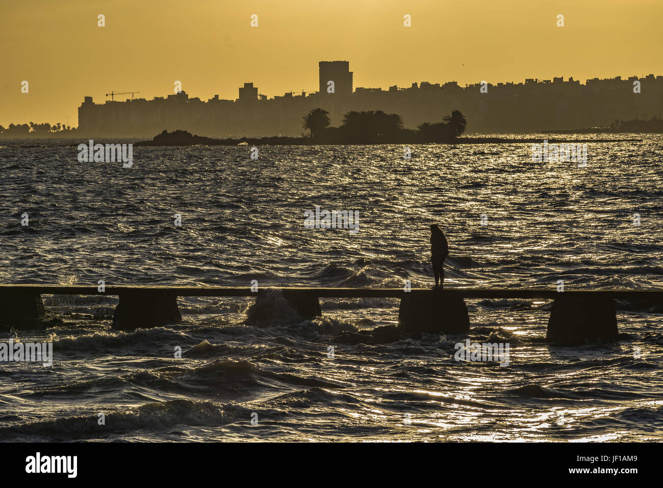 River Plater Rivière à Montevideo Photo Stock