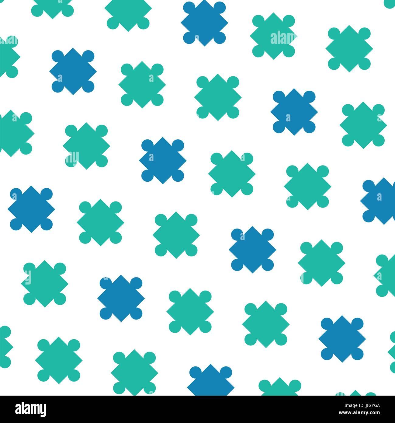 Arrière-plan des pièces de puzzle Illustration de Vecteur