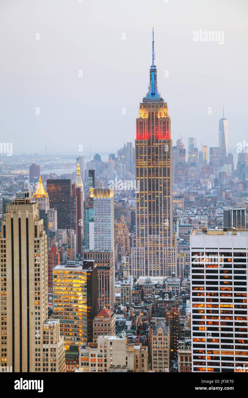 Vue aérienne de la ville de New York Photo Stock