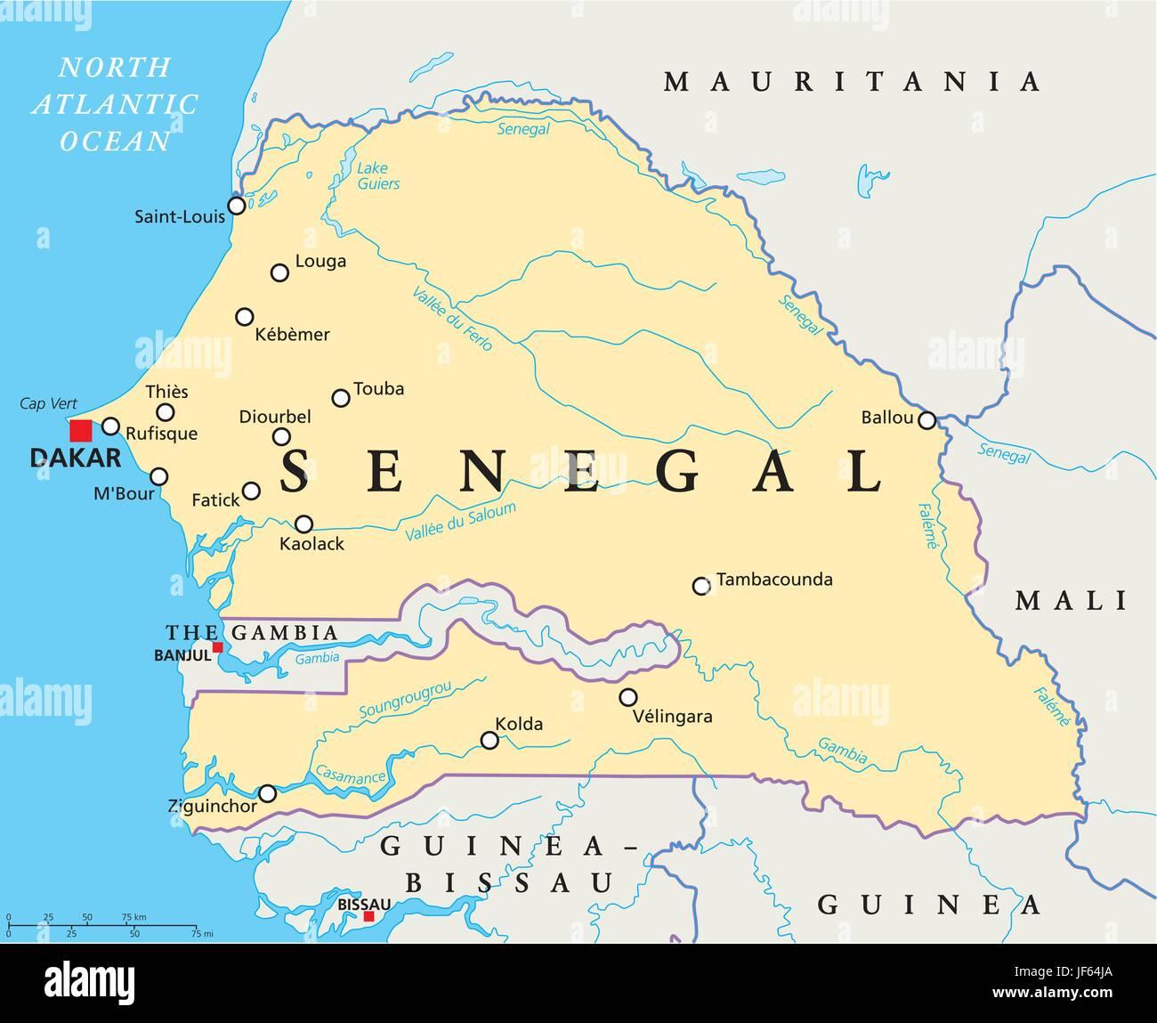 Sénégal carte du monde