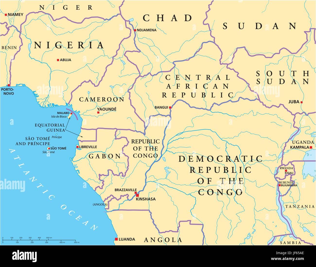 Carte Afrique Ouest Et Centre.L Afrique L Ouest Le Centre Le Niger Le Benin Le
