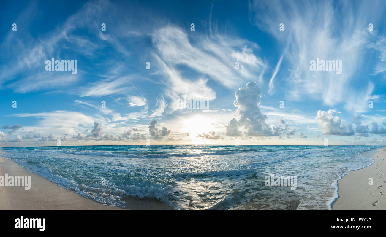 Panorama plage tropicale Photo Stock