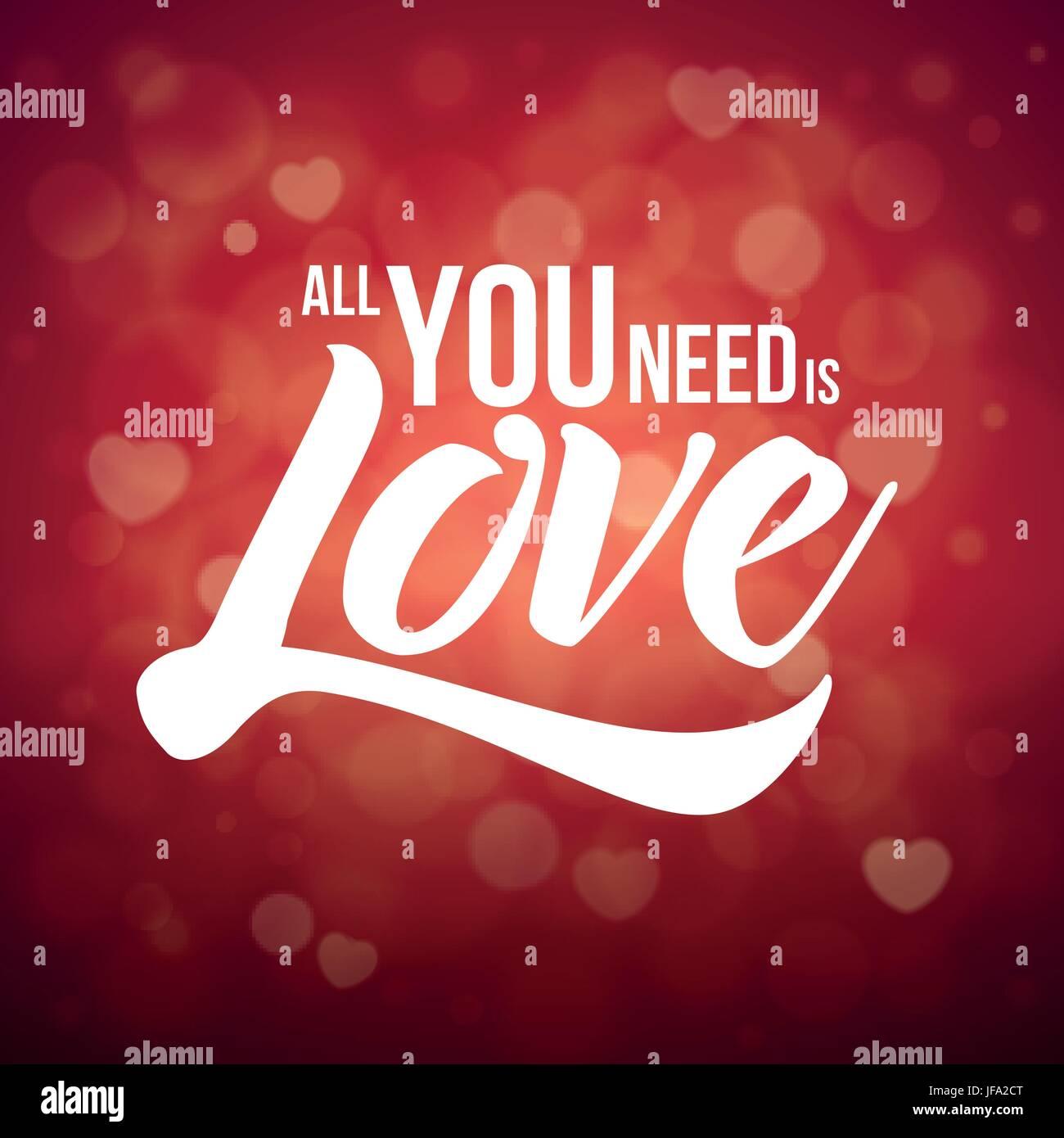 Tout ce qu'il vous faut, c'est l'amour Illustration de Vecteur