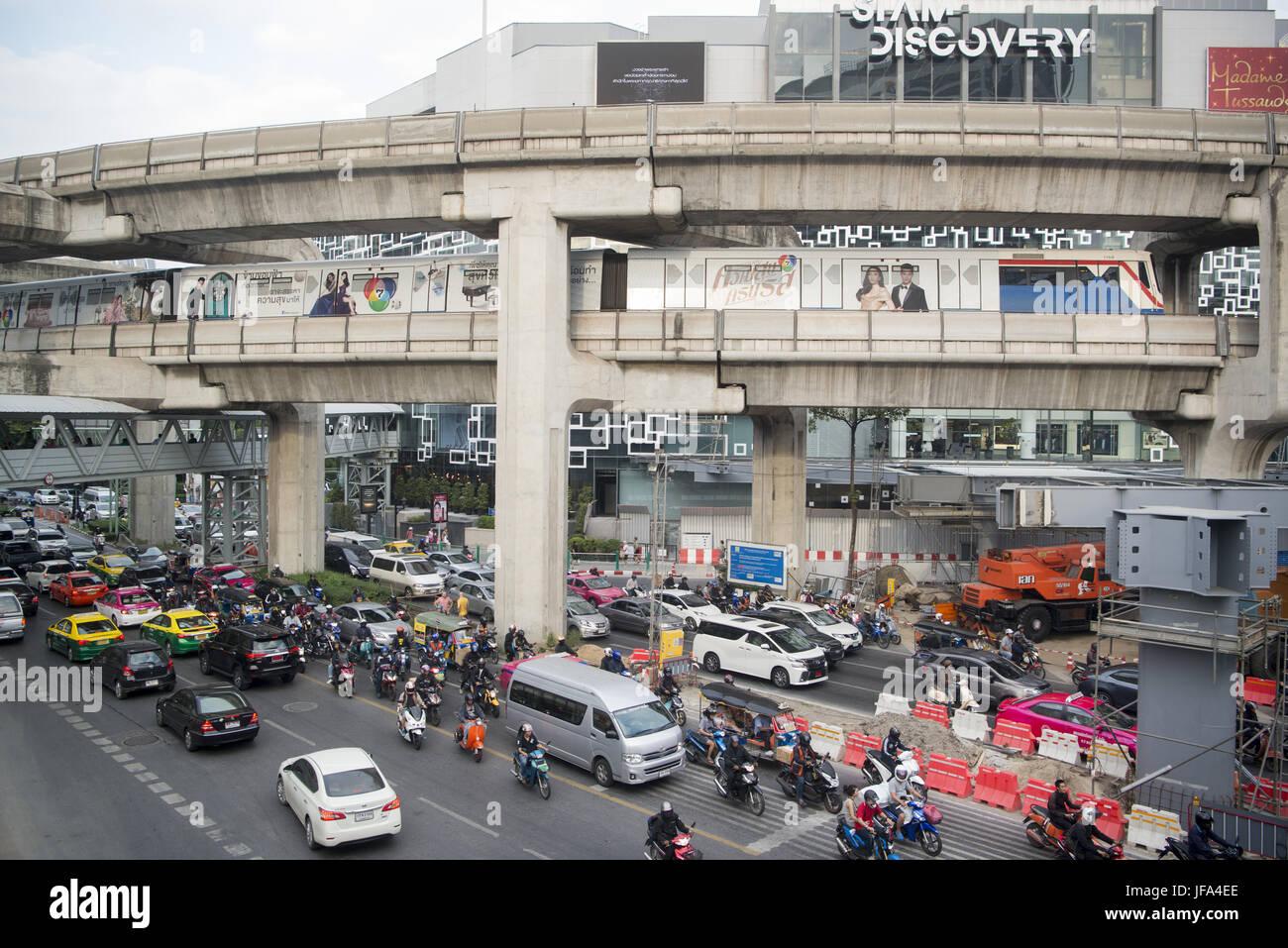 Thaïlande Bangkok Siam Square TRAFIC Photo Stock