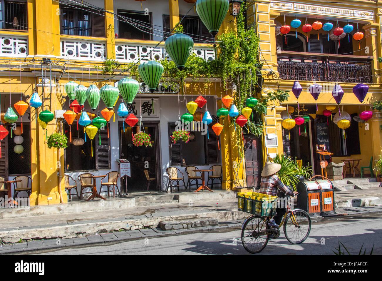 Lanternes traditionnelles à Hoi An, Vietnam Photo Stock