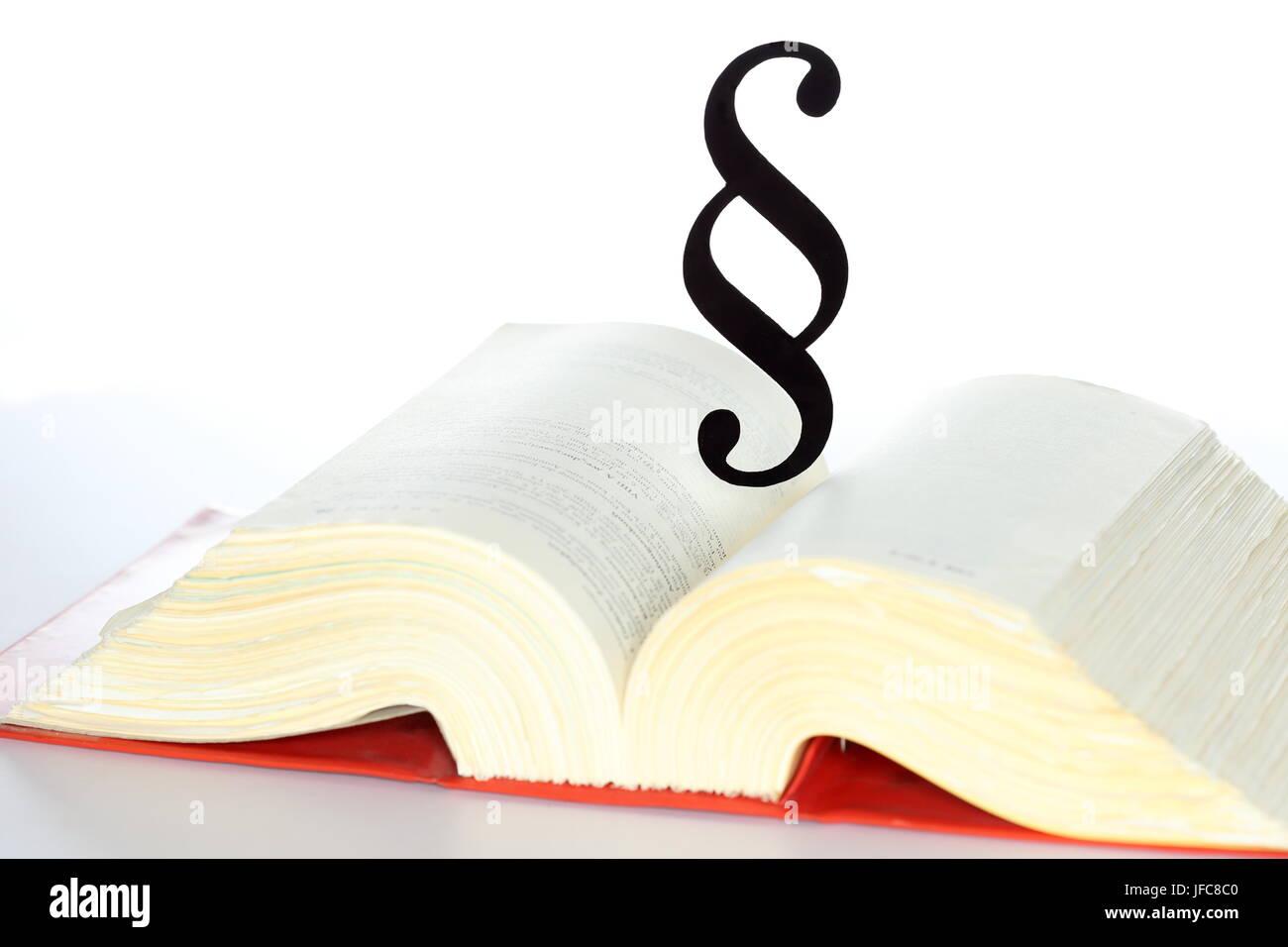 Droit-livre ouvert Banque D'Images