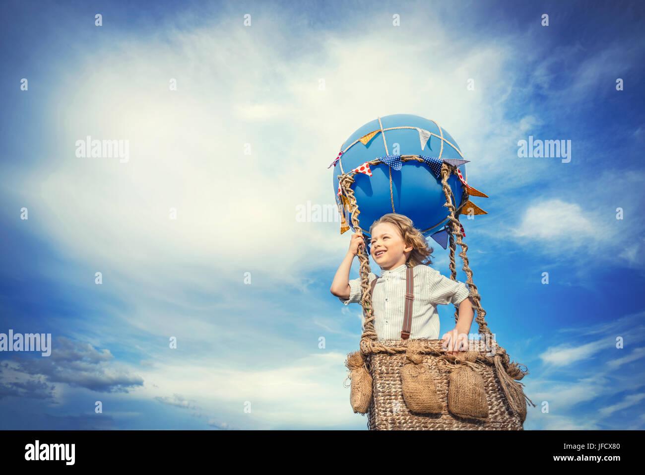 Petit voyageur Photo Stock