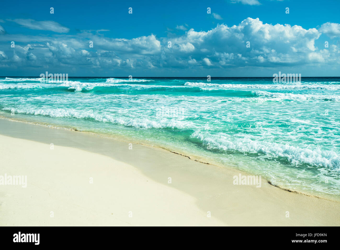 Cancun beach panorama, Mexique Photo Stock
