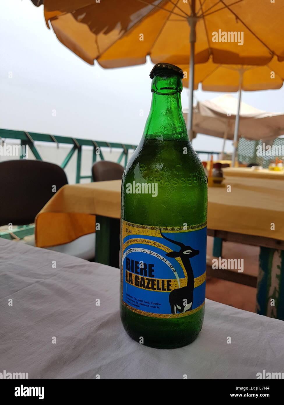 Bouteille de biere la Gazelle, bière sénégalaise