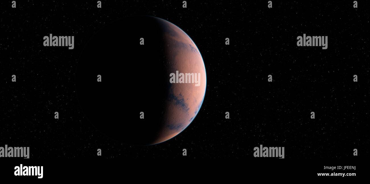 Planète dans l'espace, de l'illustration. Photo Stock