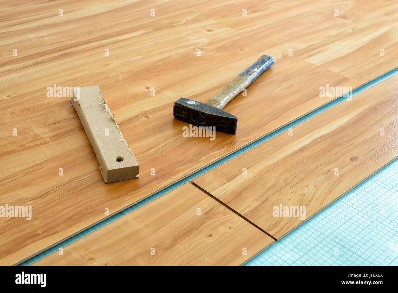 Pose plancher Banque D'Images
