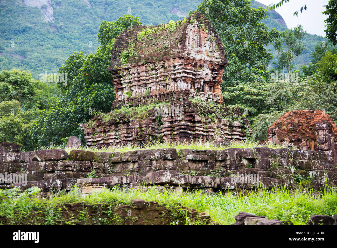 Ruines Cham à My Son, Vietnam Photo Stock