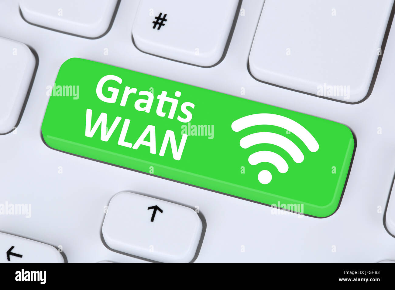 Gratis oder WLAN WiFi Hotspot Verbindung ordinateur Internet Photo Stock