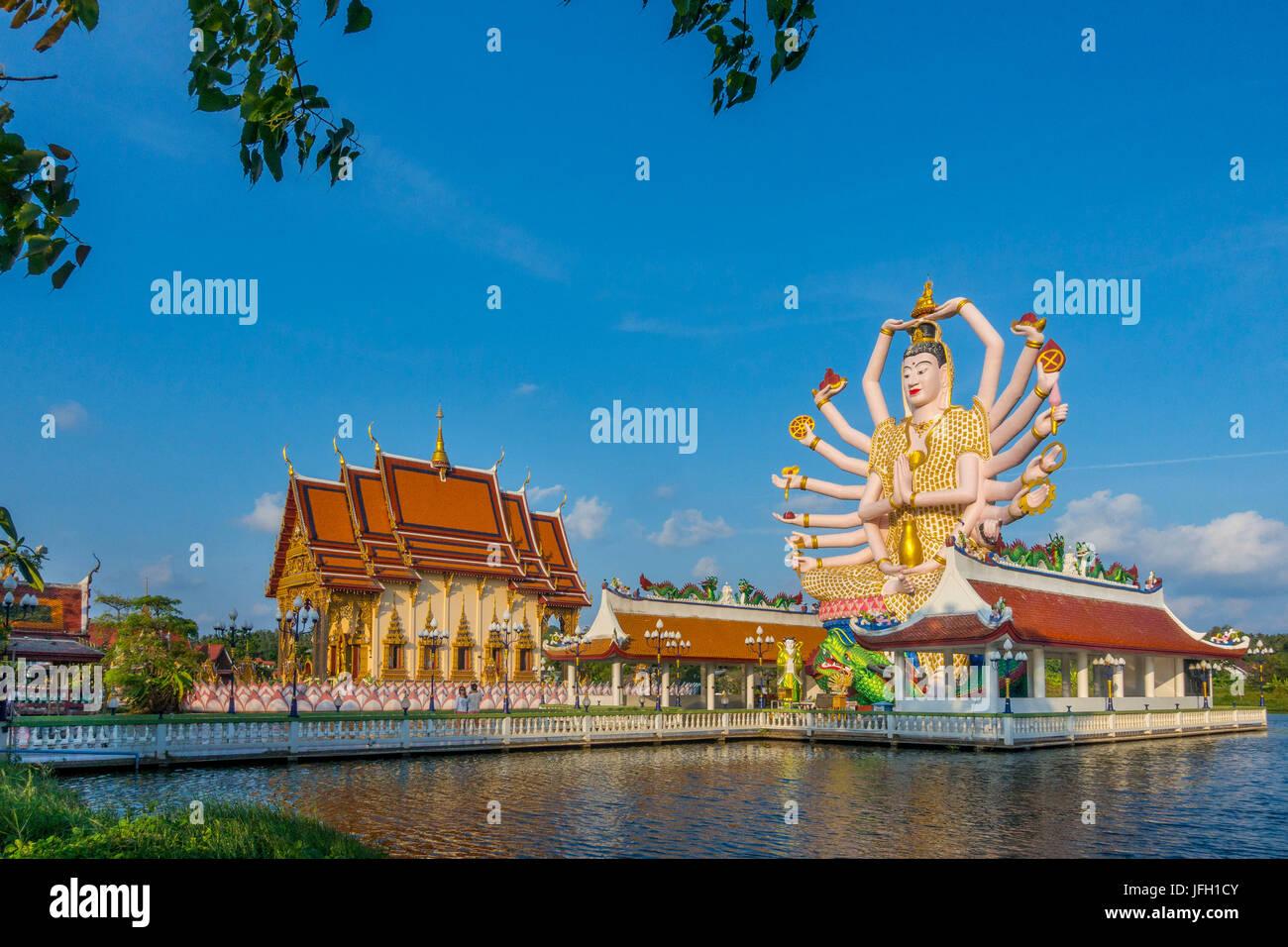 Ajo Suwannaram Dieu temple à Ban Bo Phut, l'île de Ko Samui, Thaïlande, Asie Photo Stock