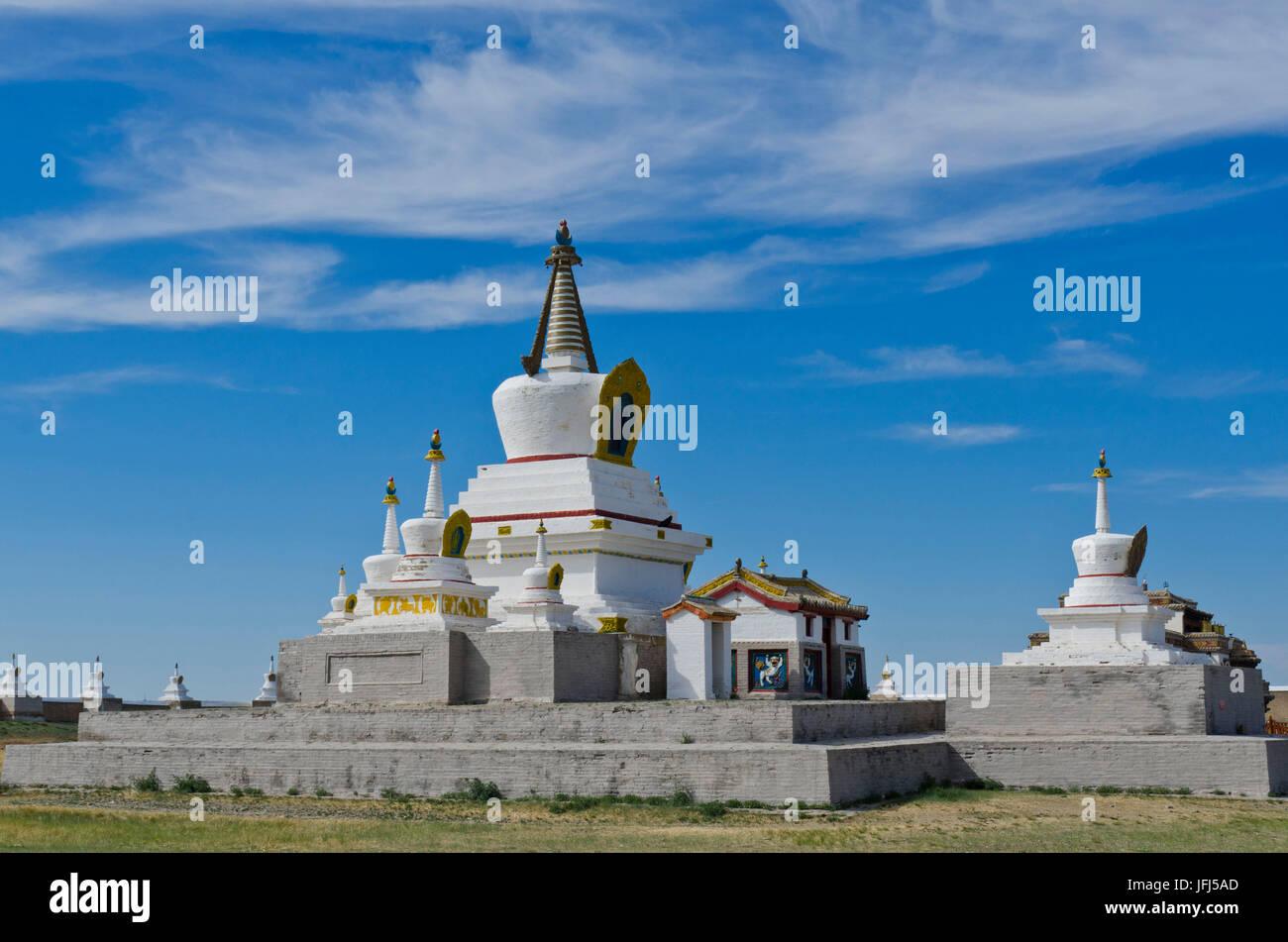 La Mongolie, l'Asie centrale, Karakorum / Qara Ressource quorum, cloître de Erdene Zuu, capitale de Gengis Photo Stock
