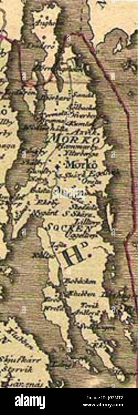 mörkö karta Karta över Mörkö från 1803 Hermelin s av Banque D'Images, Photo  mörkö karta