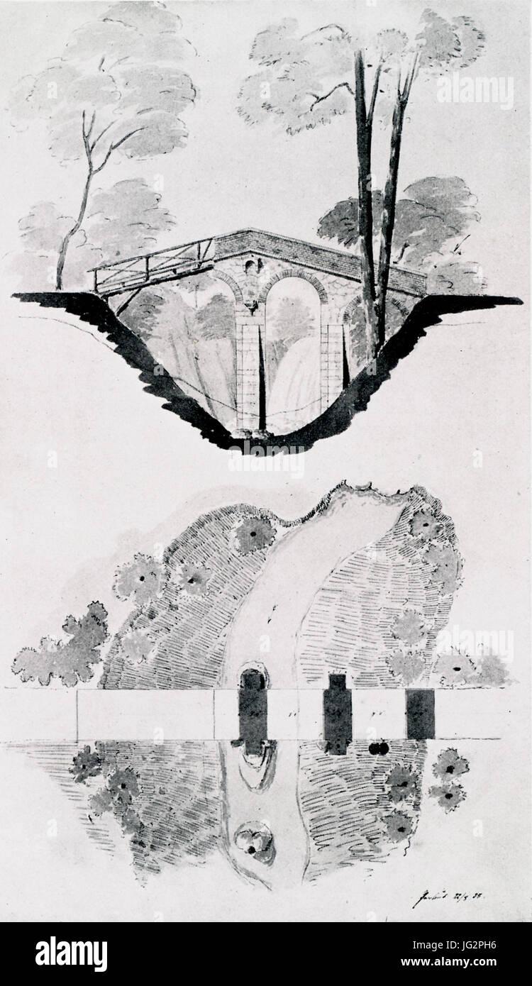 Persius Teufelsbrücke Klein-Glienicke Banque D'Images