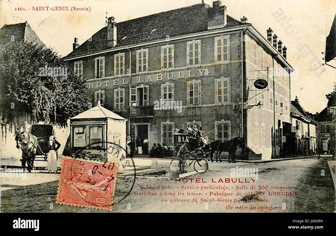 Saint-Genix Hôtel Labully Banque D'Images