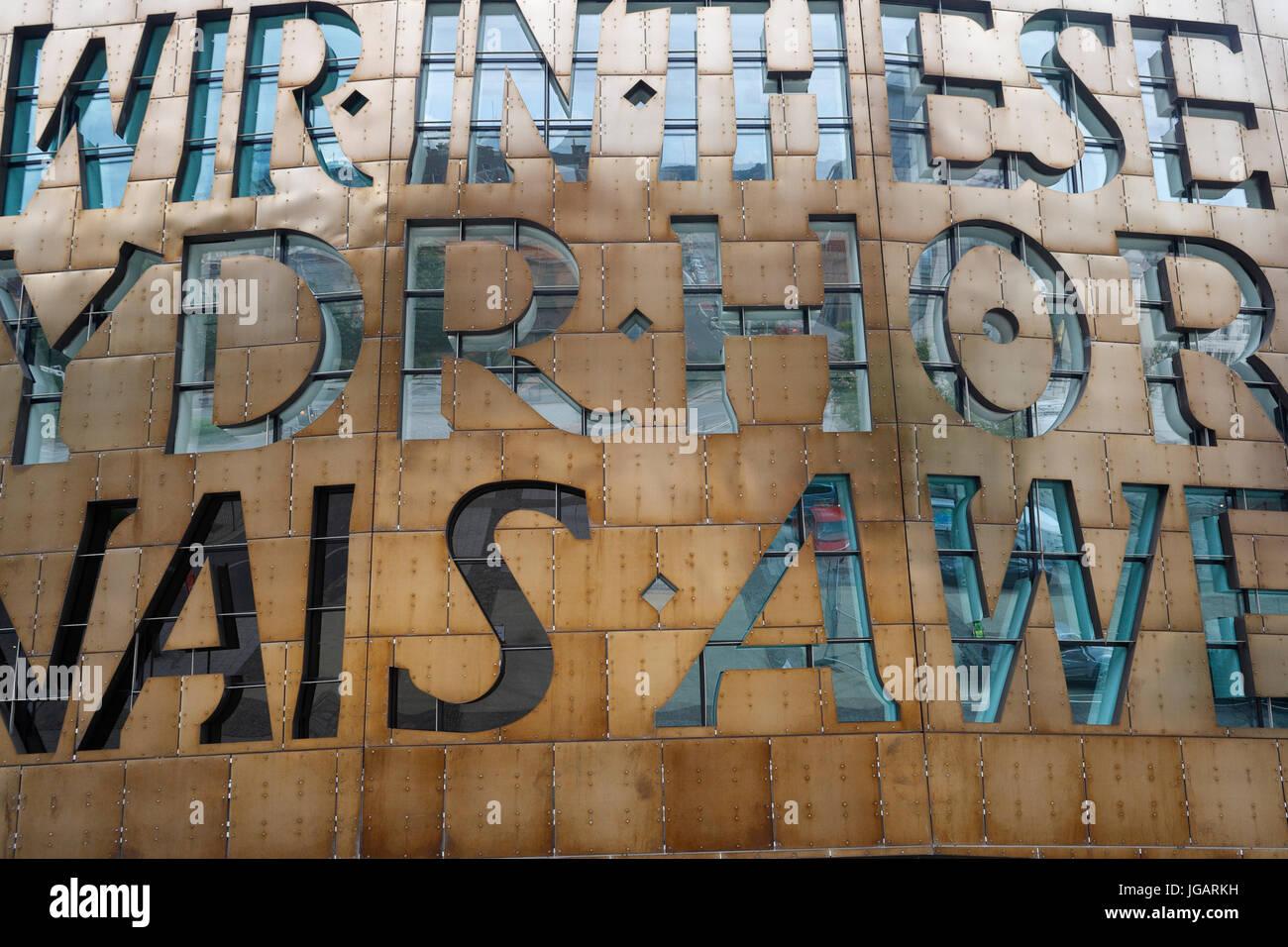 Millennium Centre, Close up, la baie de Cardiff, Pays de Galles, Royaume-Uni Banque D'Images