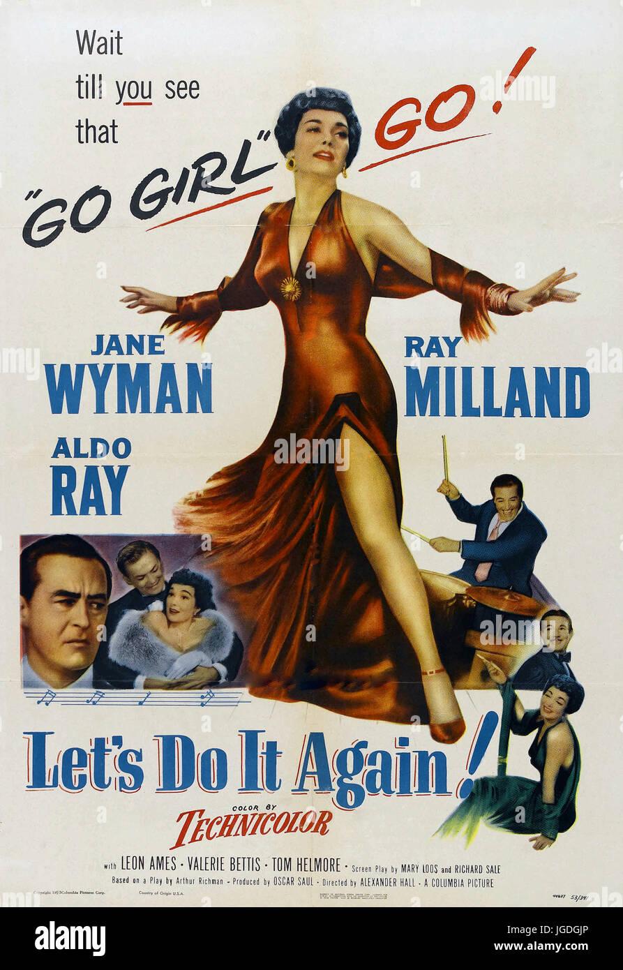 Le Blues 1953 Columbia Pictures film avec Jane Wyman Photo Stock