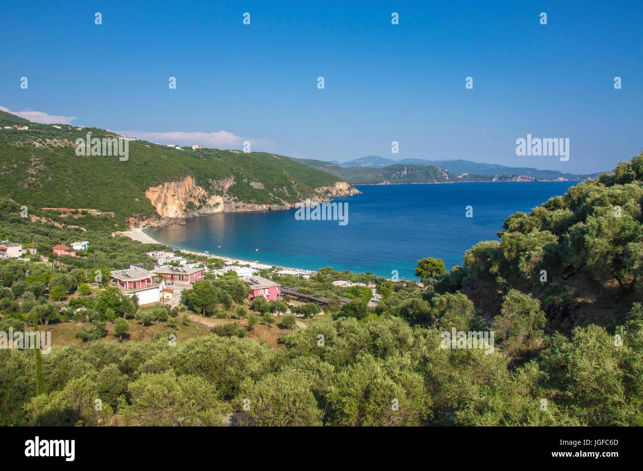 Lichnos Beach - Mer Ionienne - Parga, Preveza, Épire, Grèce Photo Stock