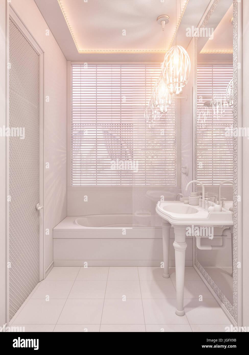 Illustration 3d Salle De Bains Conception Int Rieure D Une Chambre D