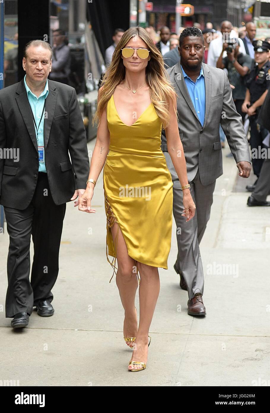 New York, NY, USA. 6 juillet, 2017. Heidi Klum dehors et environ pour la célébrité Candids - THU, Photo Stock