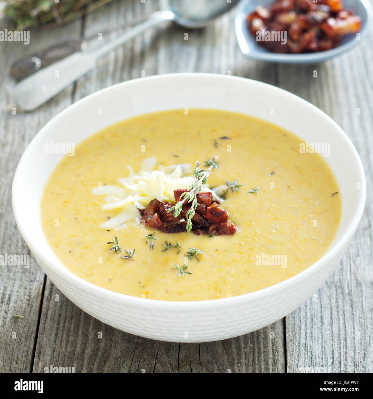 Soupe de crème de pommes de terre Photo Stock