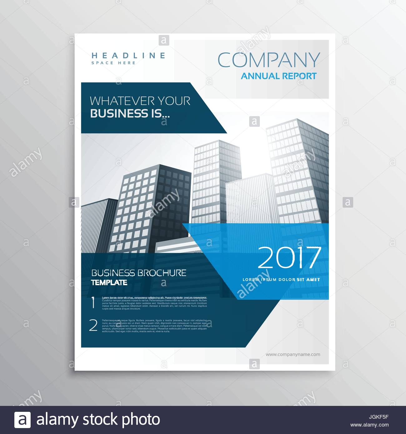 Resume De L Entreprise Moderne Brochure Flyer Template Design Avec