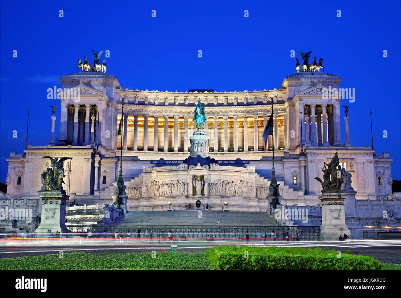 """L'Altare della Patria (Autel de la patrie""""), également connu sous le nom de 'Monumento Nazionale Photo Stock"""