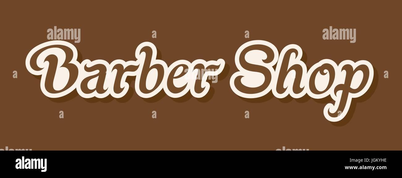 180bac415a50d1 Enseigne de barbier. La conception de l étiquette lettrage vecteur ...