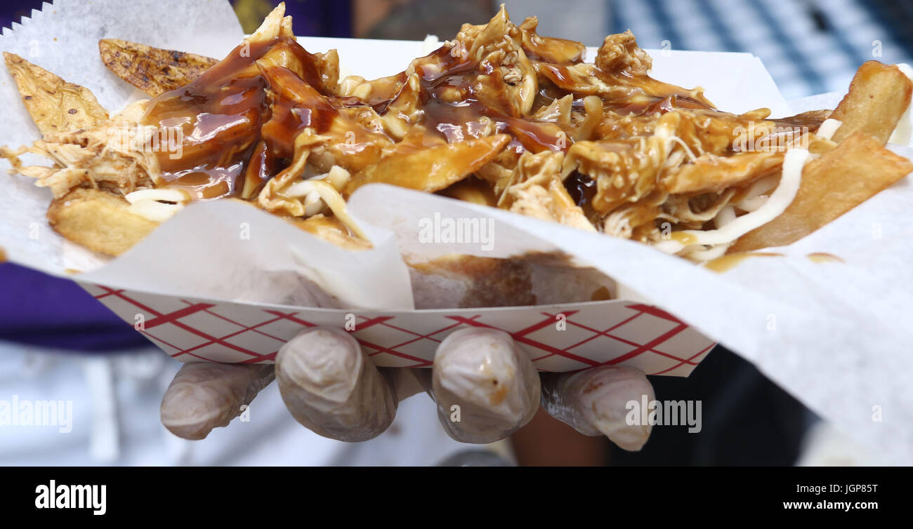 La poutine pour Bastille Day Celebration Photo Stock