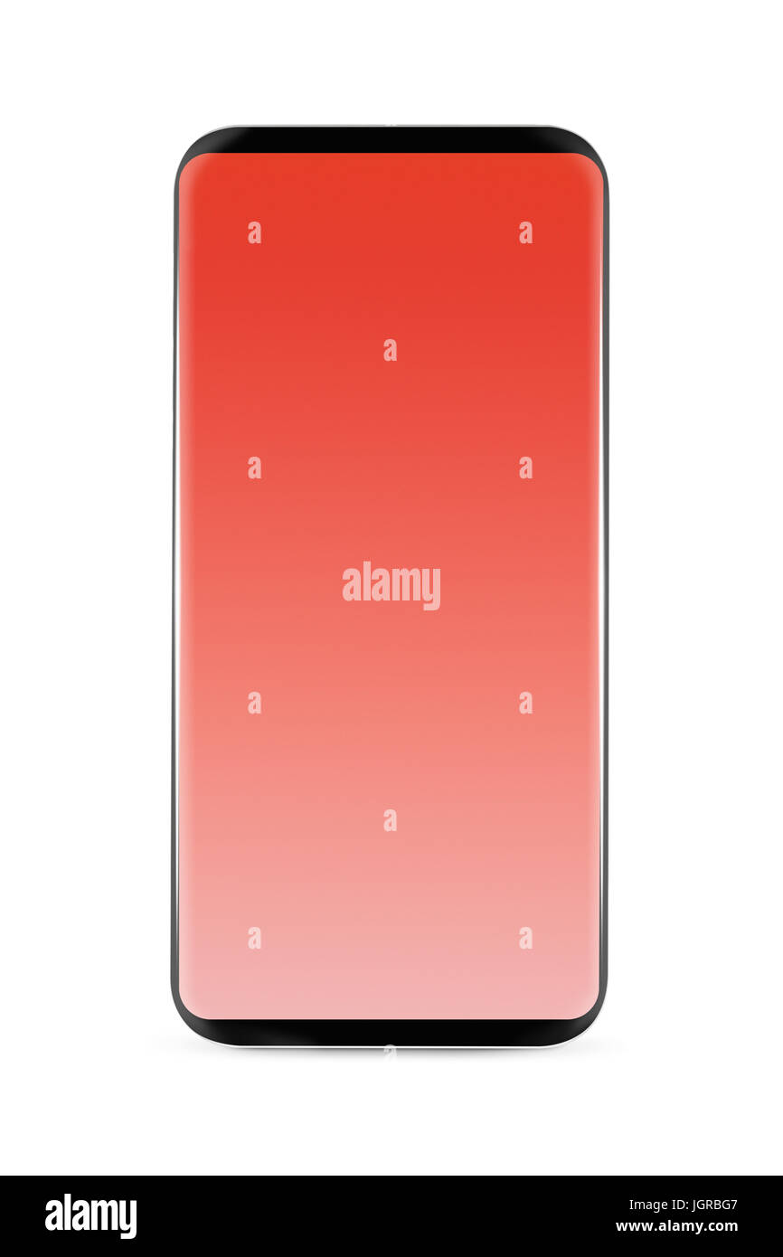 Avant-moins maquette Smartphone avec écran blanc isolé sur fond blanc fb35b540a7eb