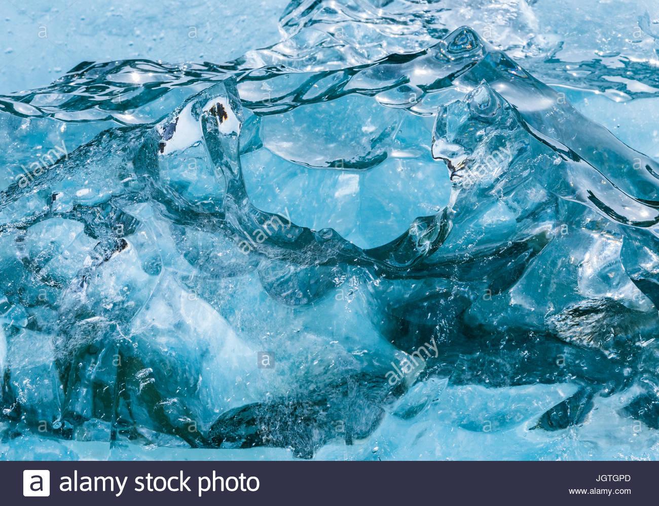 Vue aérienne de la côte de l'Alaska. glaciaires Photo Stock