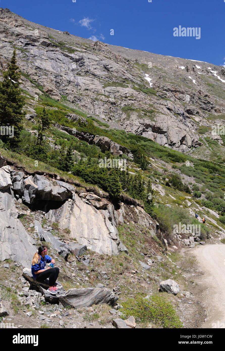 Lakes-Monte bleu Cristo Gulch près de Breckenridge, Colorado, USA Banque D'Images