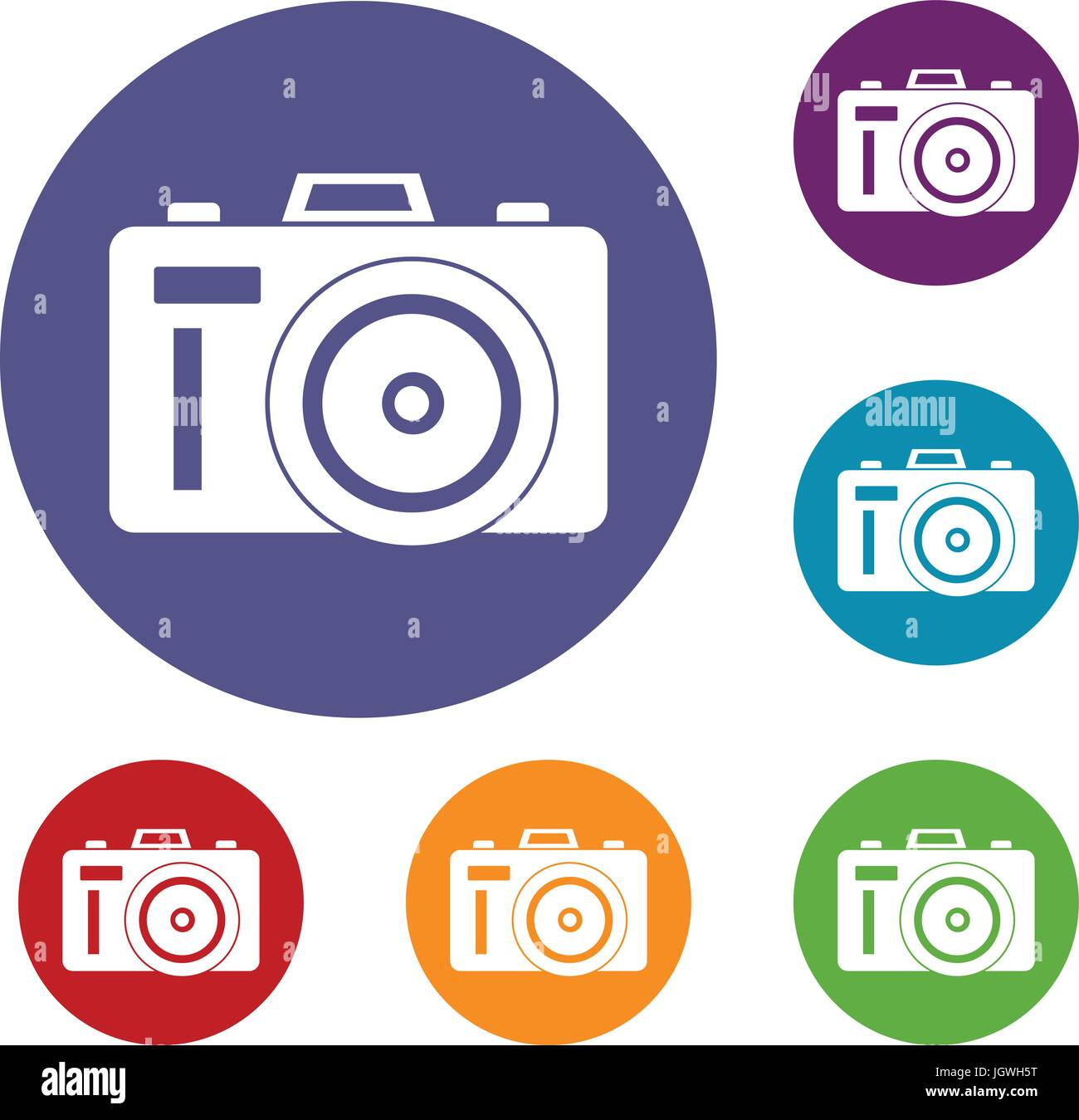 Photocamera icons set Photo Stock