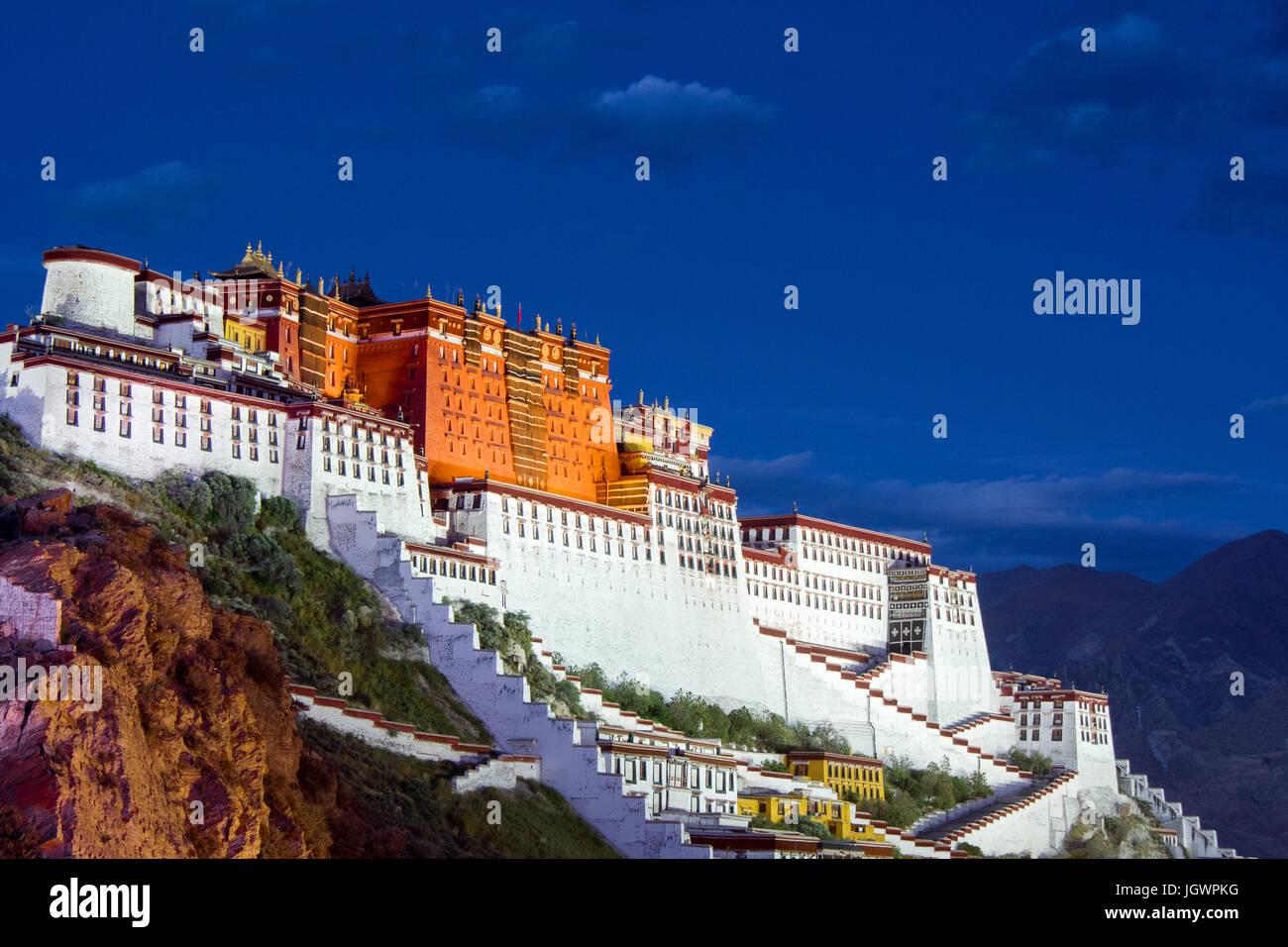 Palais du Potala, Tibet, Chine Photo Stock