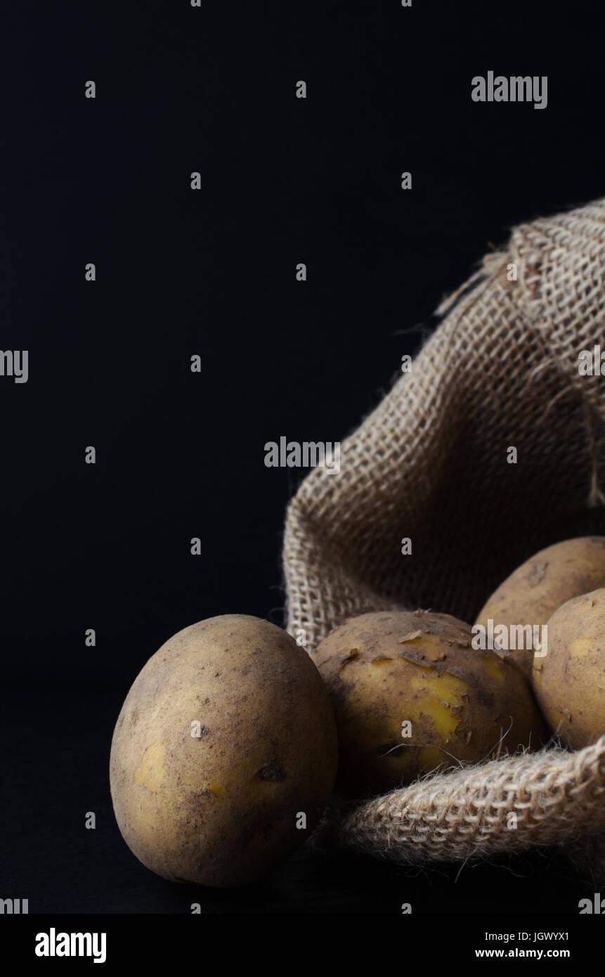 Sac À Patates Toile De Jute matières, sans les laver, éplucher les pommes de terre, s