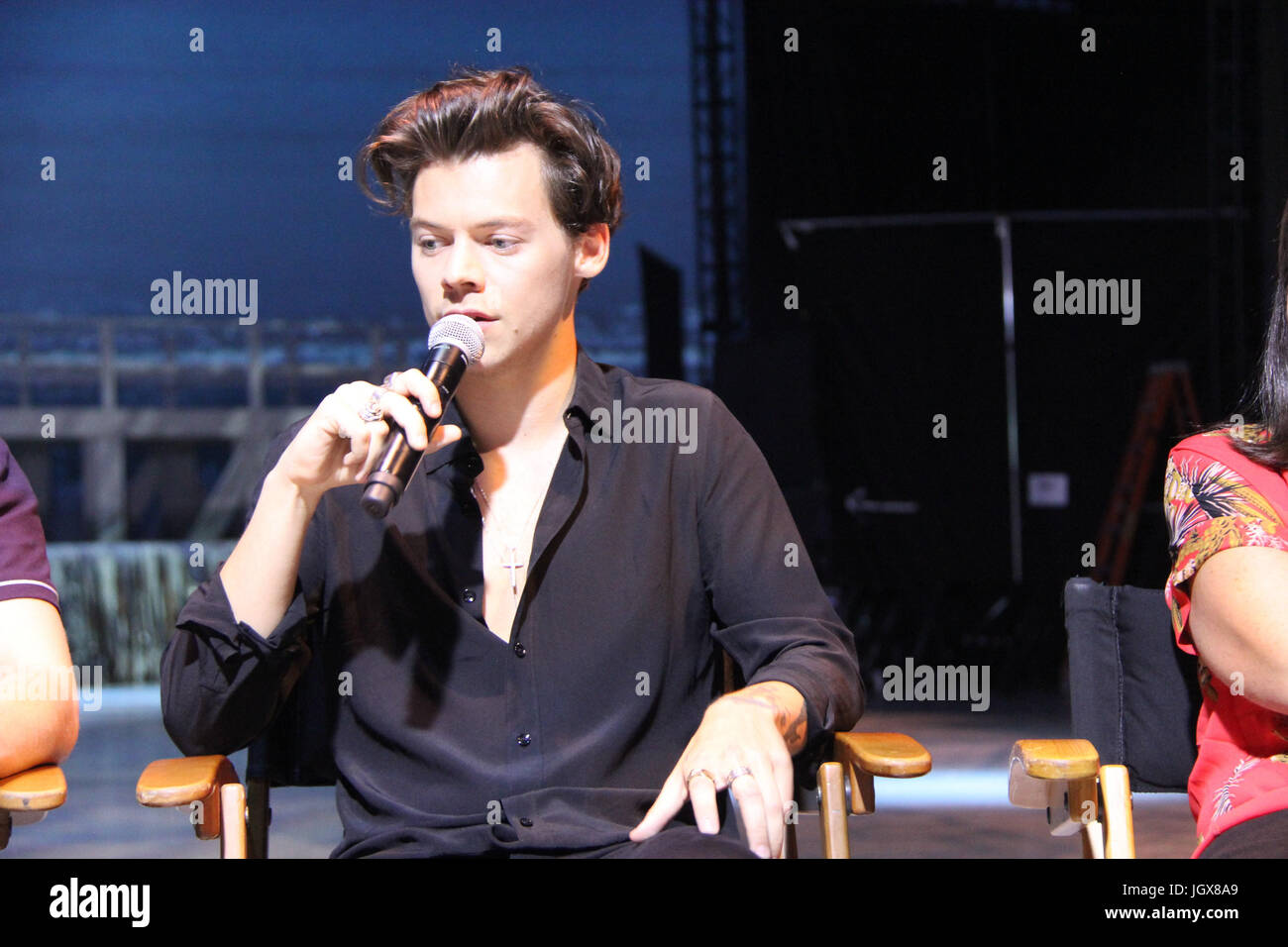 Harry styles 07/09/2017 unkirk «' conférence de presse tenue au barker hangar à Santa Monica, Photo Stock